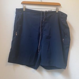 Men's NIKE SOLID Navy BLUE ATHLETIC SHORTS